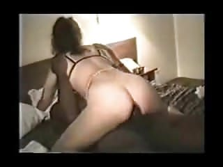 White Wife Riding a BBC in Her Ass - Pussy Creampie