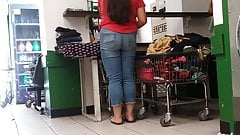 Latina teen at the laundromat