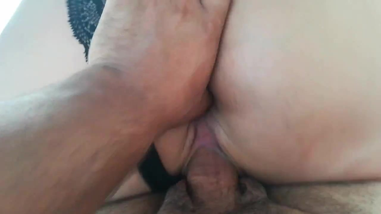 BBW plugged while riding cock