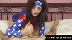 Big TIt Cosplay Slut Charlee Chase Strokes A Big Cock!