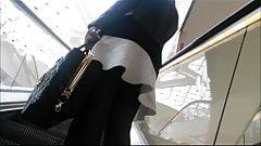 classy upskirt escalator