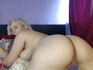 Thick Blonde Russian Teen Fucks Pussy And Ass On Cam