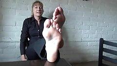 Ticklish milf soles
