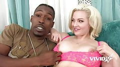 Interracial time for this slutty blonde