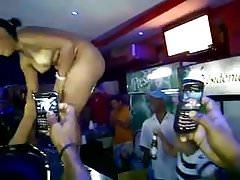 cute Dominican babe dancing in bar