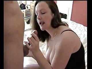 Busty wife give hubby blowjob ending getting fucked (FIXED)