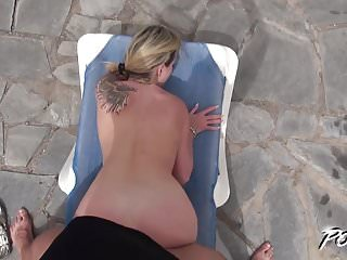 Povbtich - Afternoon cum swallow by the pool