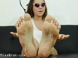 POV Cuckoldress Foot Humiliation Clean up Feet