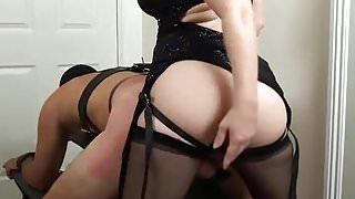 Mistress Amy Her 1st Period Strapon Session - Dongs Delight!