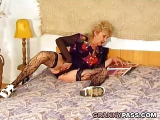 Preview 1 of Hairy Granny Gets Pounded Hard By A Young Dick