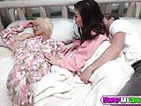 Slutty teens Elizabeth and Jenna getting their holes stuffed