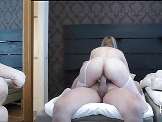 Slutwife Rides my Cock,the guy is waiting for the turn
