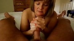 Mature Handjob #1 (On the Bed)