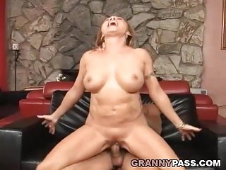 Preview 6 of Busty Cougar Loves Hard Fucking With Young Cock