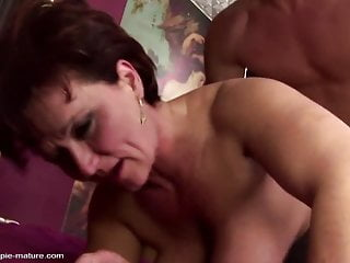 Busty mature fucked in all her old holes