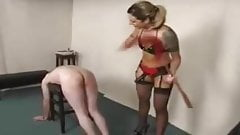 Mistress spreads cunt in slave