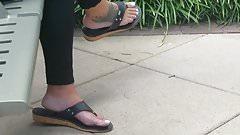Candid feet on lunch break