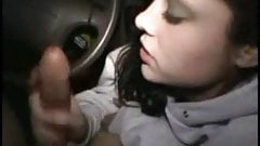 Great blowjob. My young girlfriend in car