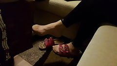 Mother in law nylon feet dangling's Thumb