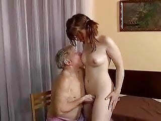 Young Girl Likes Sex With Old Man