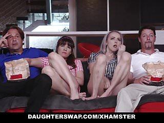 DaughterSwap - Teens Tricked Into Fucking Dads Best Friend