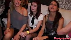 Amateur euro partybabes get their tits jizzed