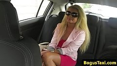 Blonde uk slut pussy fucks cabbie doggystyle