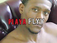 Playa Flyy stroking his massive dick