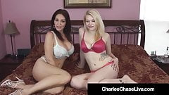 Busty Cougar Charlee Chase Gets Pussy Loved By Amber Sativa!