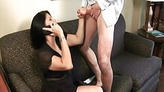 Big titted Teen fucks with boyfriend on cell phone