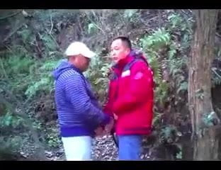 Chinese mature bear man suck cock