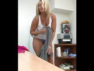 Giggling Sexy Blond