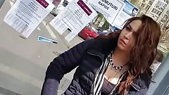 spy bust and face teens girl in romanian