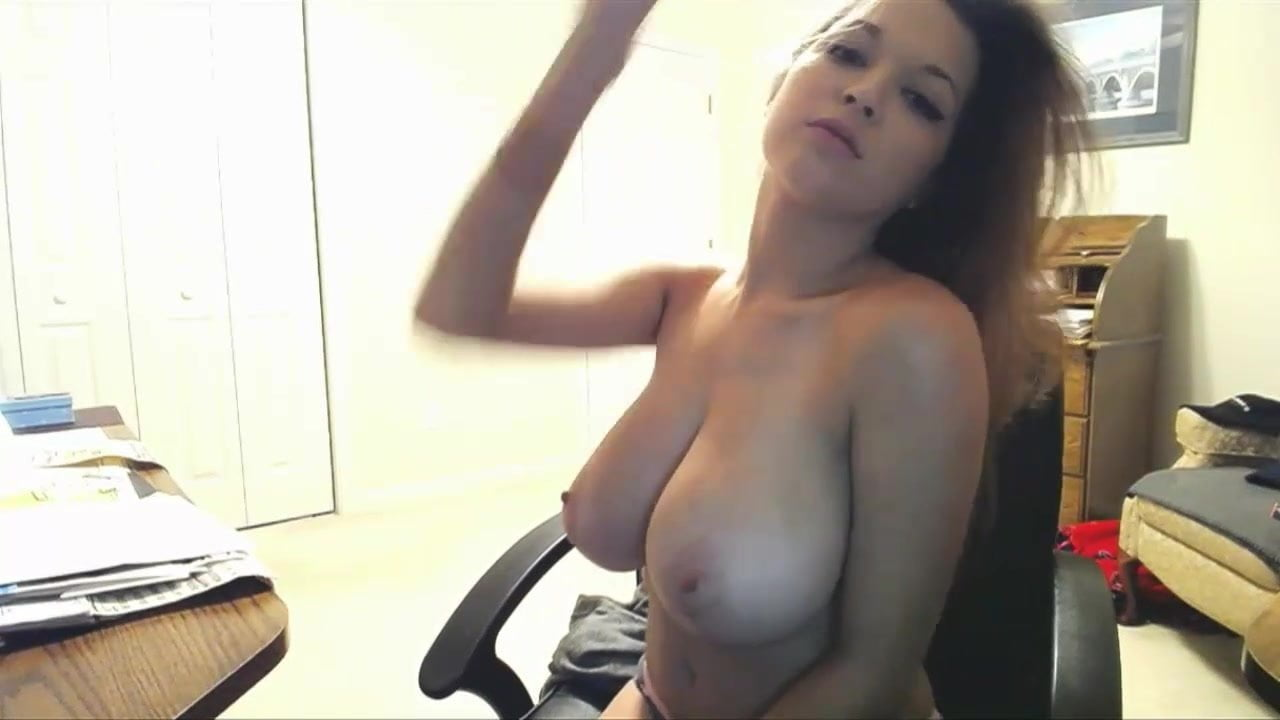 Sexy busty girl tessa fowler strip webcam show