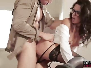 He drives his cock deep inside her pussy