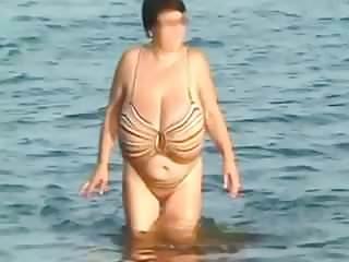 Huge beach boobs