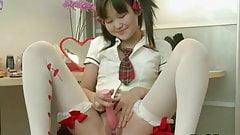 Asian Teen Strip, Dress & Masturbate