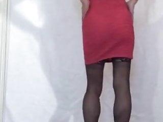 Pink Front Zipper Mini-Dress View