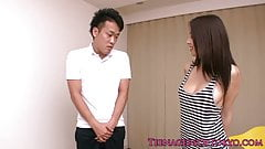 Japanese teen fucked on the floor