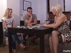 Guy finds our his blonde mom and teen fucking
