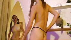 Cute russian girl Tamara dancing and stripping 001
