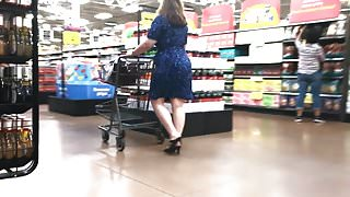 Milf with Wide Hips in Blue Dress (edited)