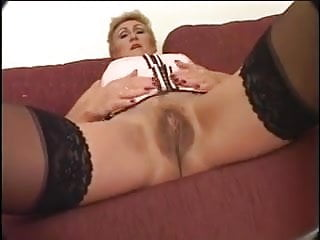 Hairy Mature In Stocking