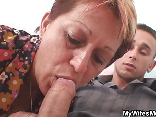Fucking not mother inlaw from behind