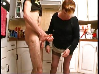 Christiane 50 yo anal fucked in the kitchen