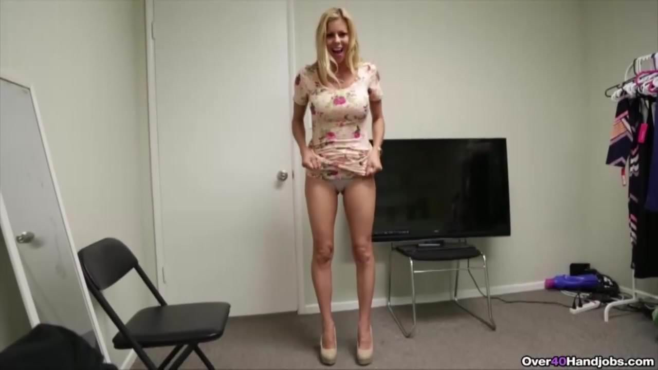 Bigtitted stepmilf jerking and titfucking pov