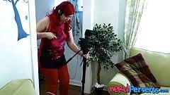 British Jasmine Lau filmes sucking cock by redhead