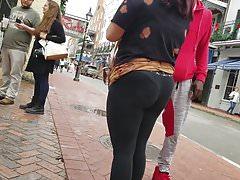 Creep Shots Bourbon St big booty see thru leggings VPL