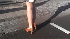 sexy naked legs short skirt spyshot hidden cam geile Beine