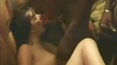 cuckold dirty wife gangbanged by big black cocks